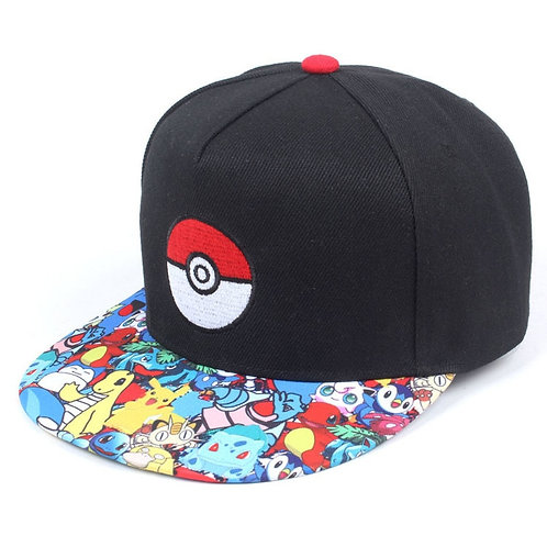 Anime Pokemon Hip Hop Cap Fashion Adjustable Embroidery Cotton Snapback For Men