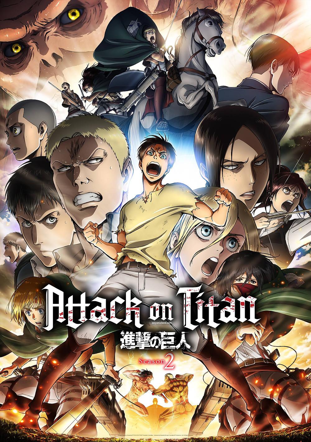 Attack On Titan Season 2 Key Visual