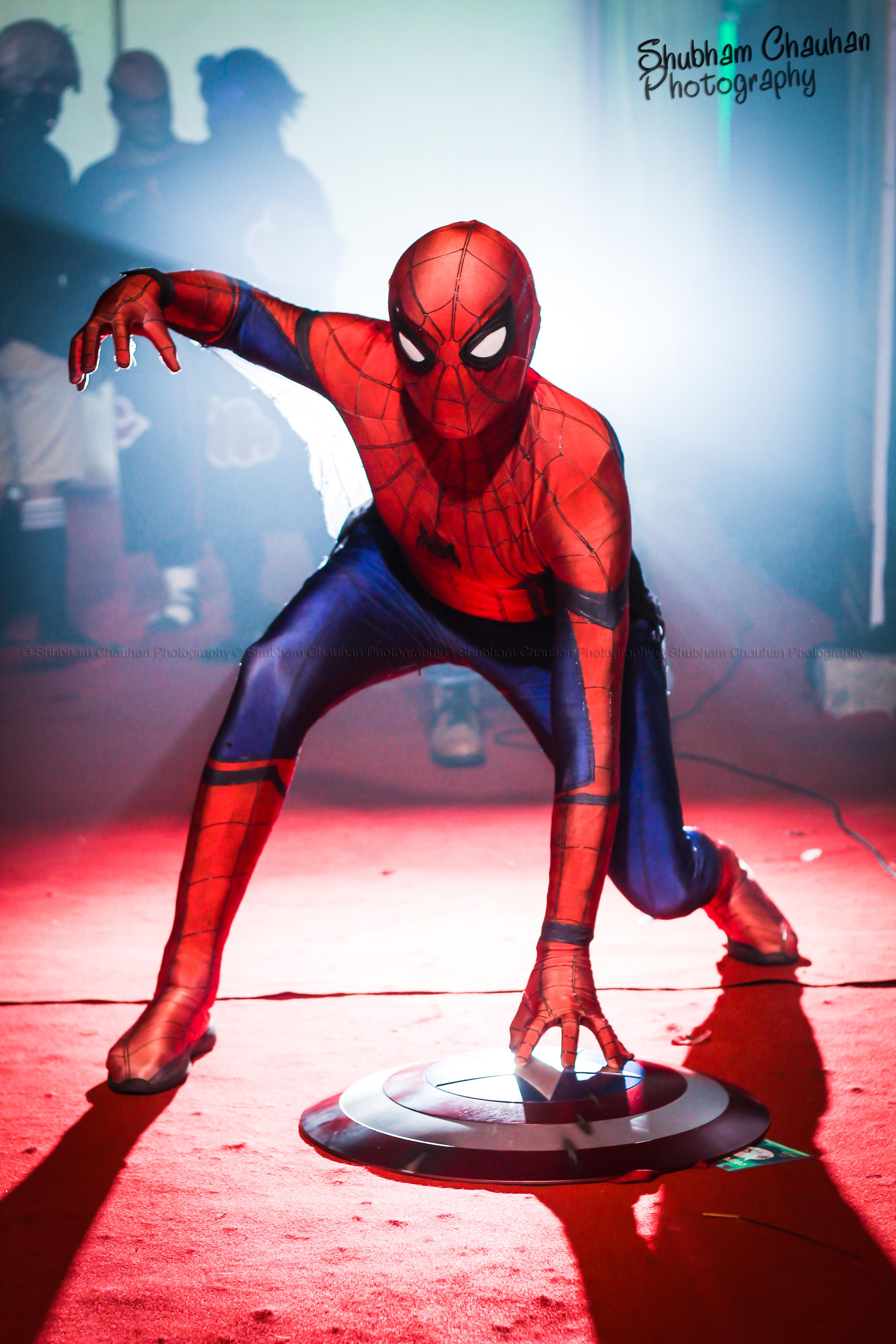Gaurav Thakur Cosplaying as Spiderma