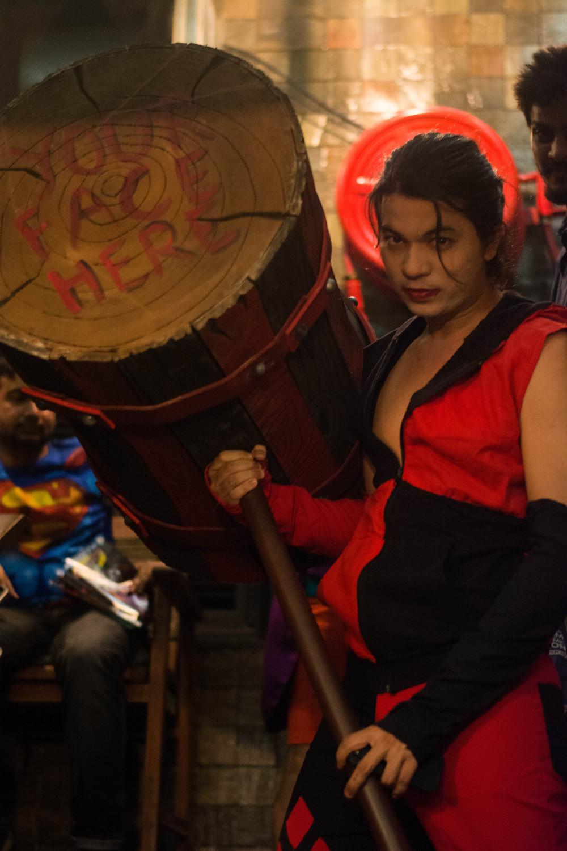 Saurabh as Harley Quinn (Gender Bend Cosplay)