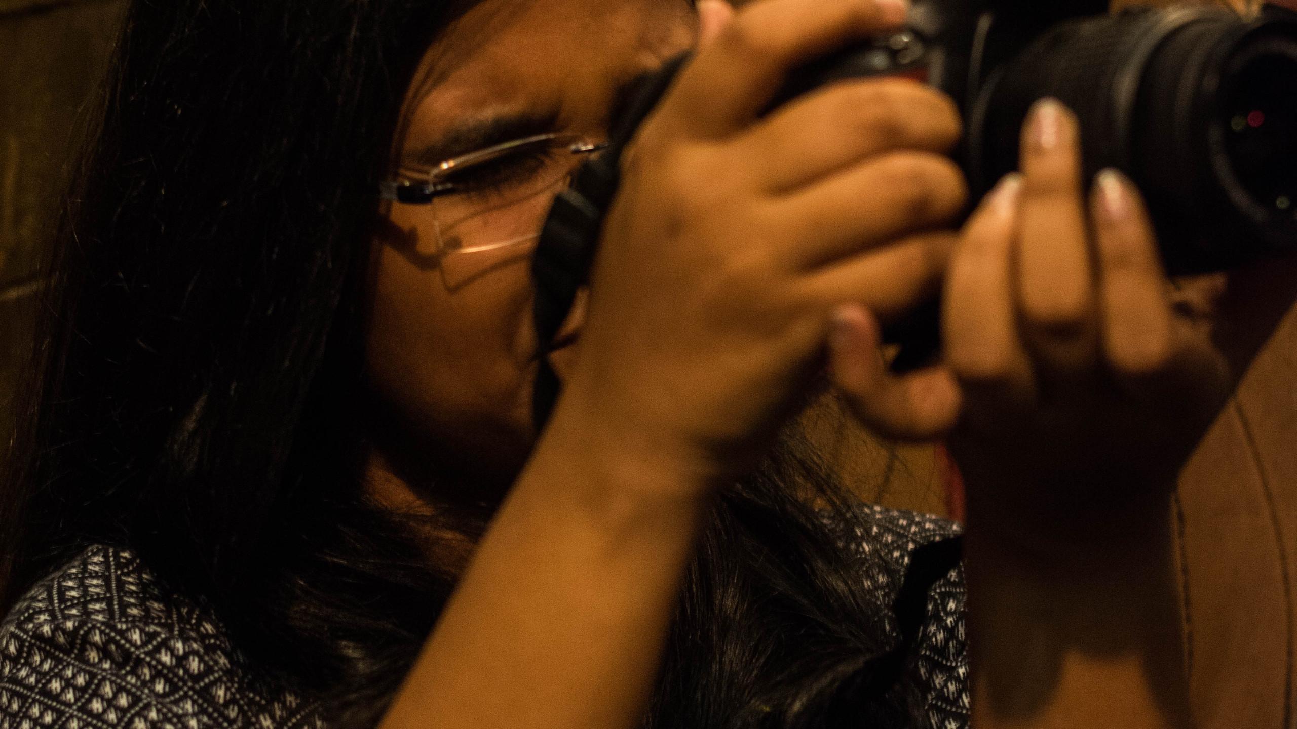 Smita Mulik clicking pics at event