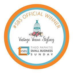 Vintage Venue Styling Official #SBS Badg