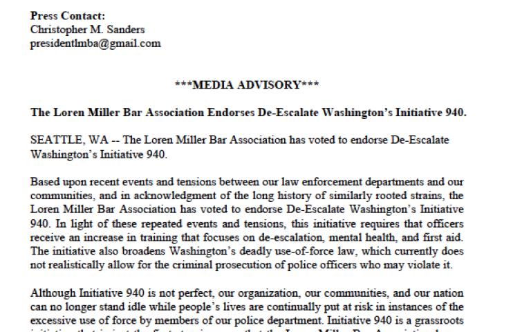 LMBA I-940 Endorsement Letter