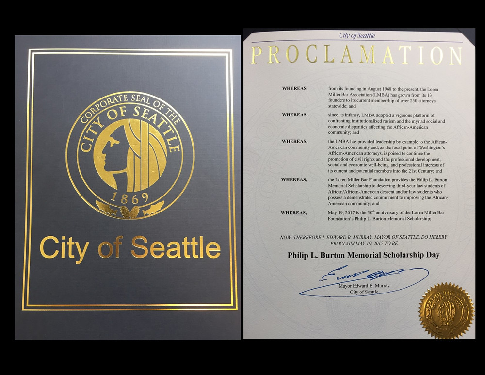 proclamation from Seattle Mayor's office