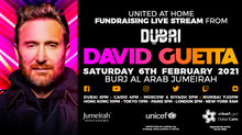 David Guetta mixera en haut du Burj Al Arab pour son show 'United At Home' à Dubaï