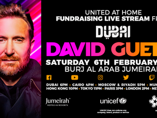 David Guetta mixera en haut du Burj Al Arab pour son show 'United At Home' à Dubaï