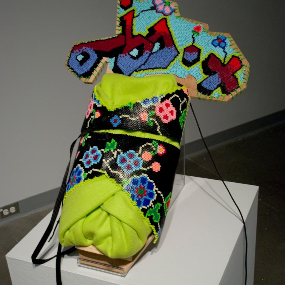 Cradleboard, mid 21st century (install)