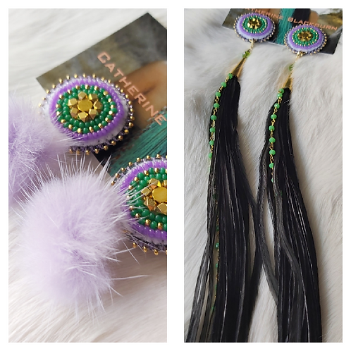 Fly Away Feather Shifters (into faux fur poms)