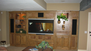 Built-in entertainment center