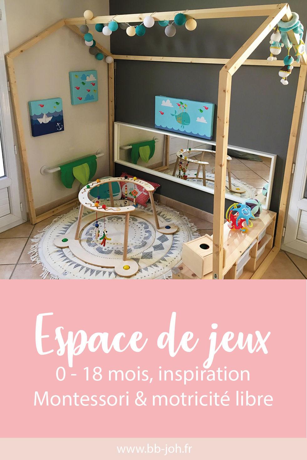 Tapis De Motricité Pas Cher espace de jeux évolutif 0 - 18 mois, inspiration montessori