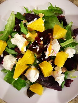 Beets and Orange Salad w Goat Cheese