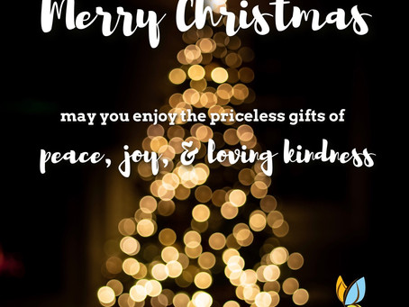 Peaceful, joyful Christmas to you