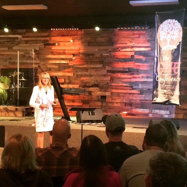 Rhonda speaking to foster parents