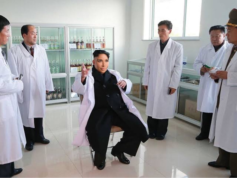 Kim urges his doctors to make him a she man so that he can do himself.