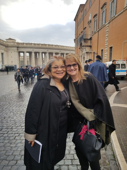 Rhonda Sciortino and Alveda King