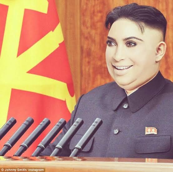 Kim Kardesh Un giving a cut throat speech to his country men
