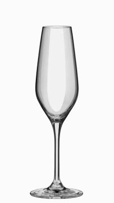 """טס 6 כוסות שמפנייה 205 מ""""ל"""