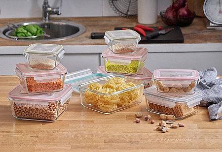 סט 9 כלי אחסון GLASS CLOC מבית Food Appeal
