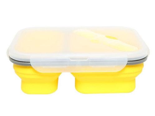 קופסת אוכל - צהוב