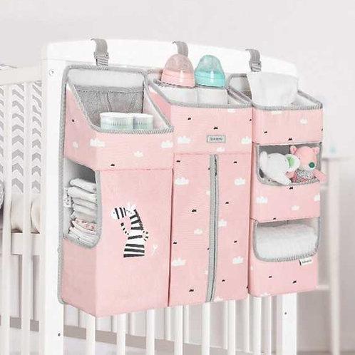 ארגונית למיטת תינוק צבע ורוד