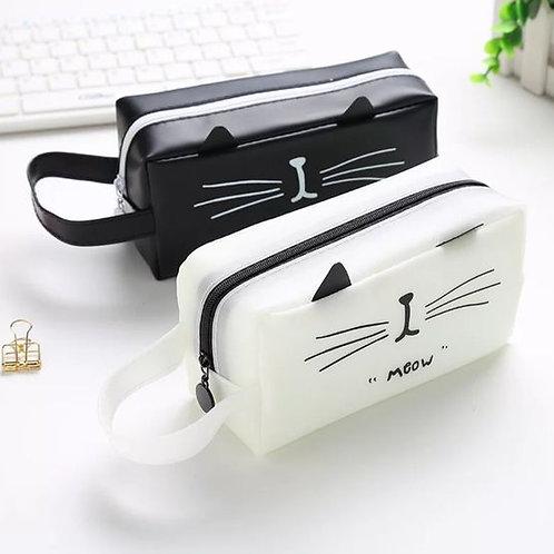 קלמר חתול - לבן
