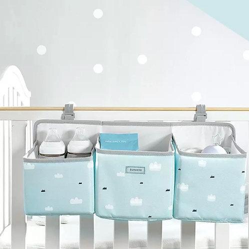מיני ארגונית למיטת תינוק צבע תכלת