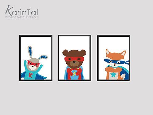 Superheros animals - 3 pic