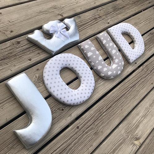 אותיות שם מעוצבות - דגם JOUD