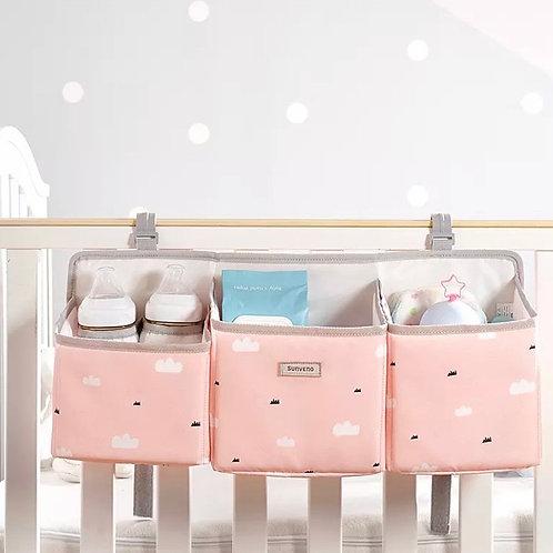 מיני ארגונית למיטת תינוק צבע ורוד