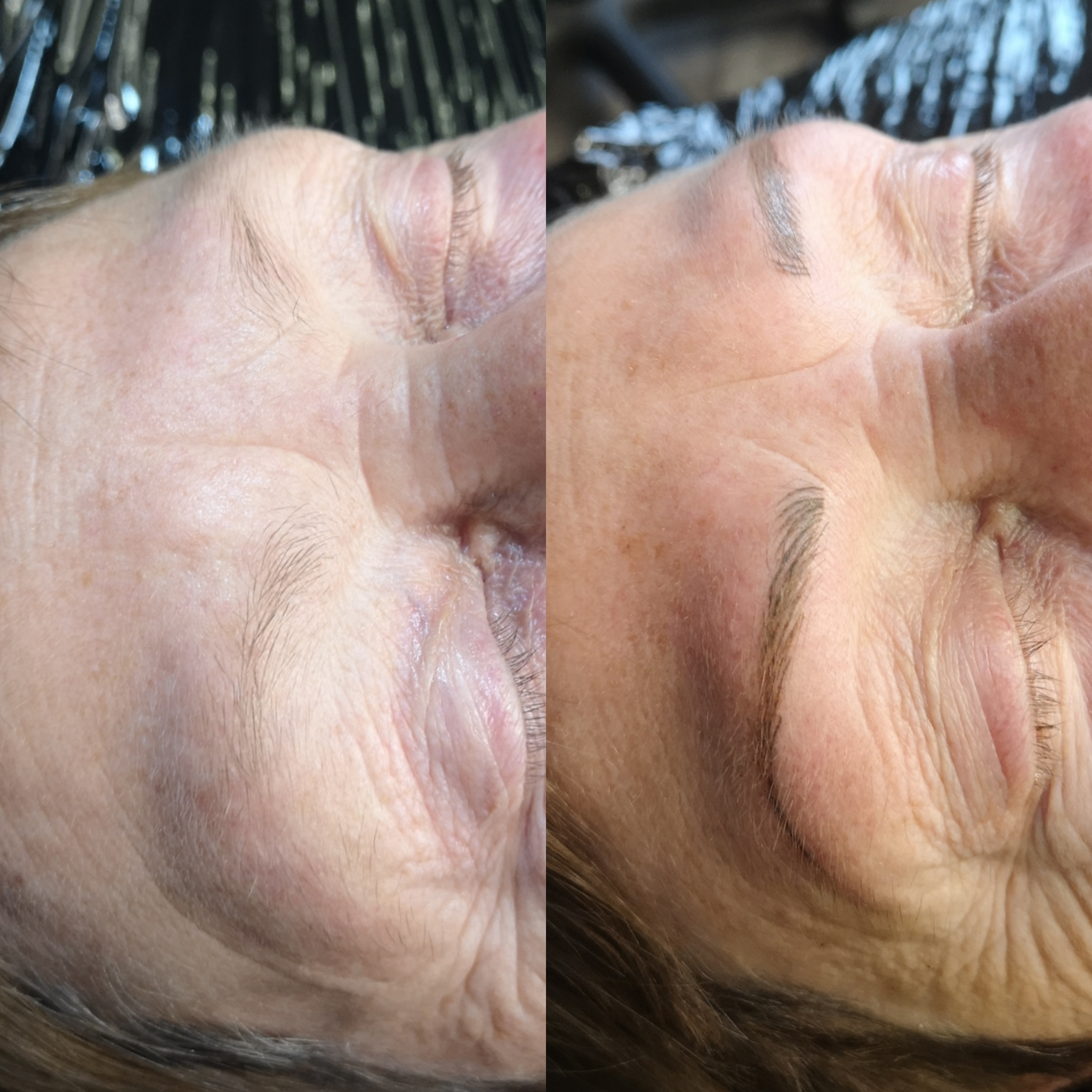First session hair stroke brows