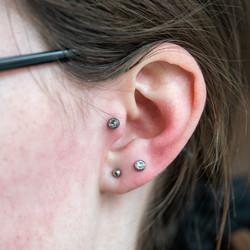 Bold Tragus piercing
