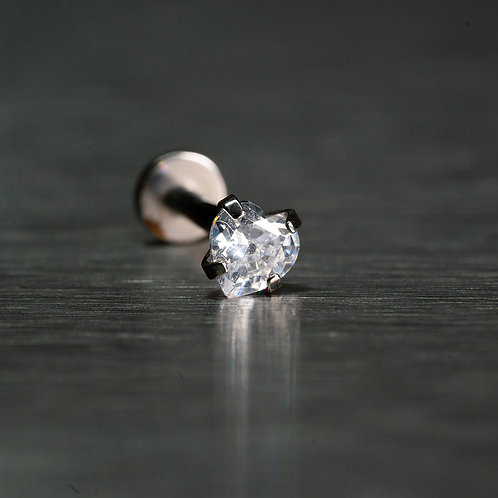 Heart Shaped Cubic Zirconia Clear