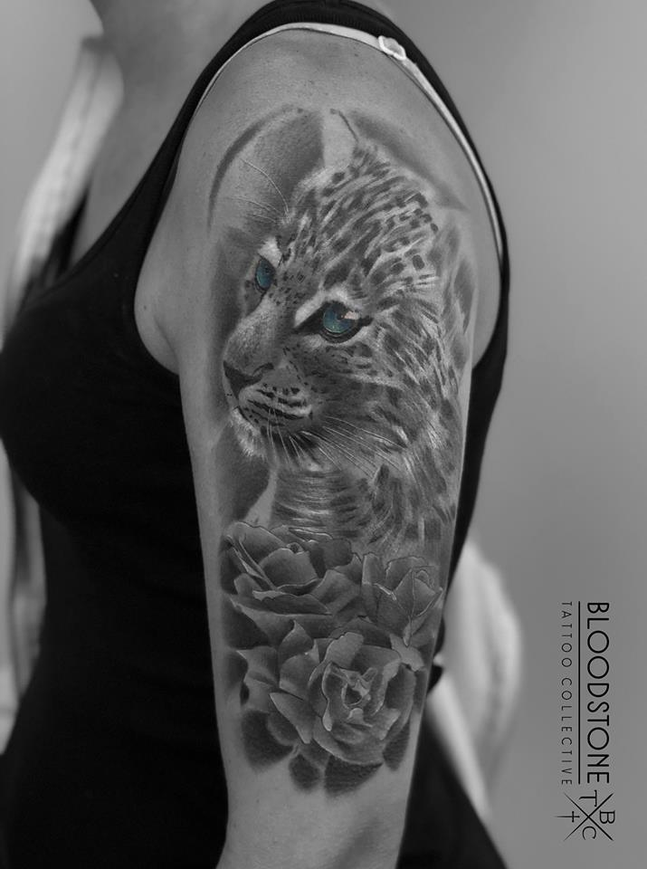 Leopard Cub with flowers (COVER UP)