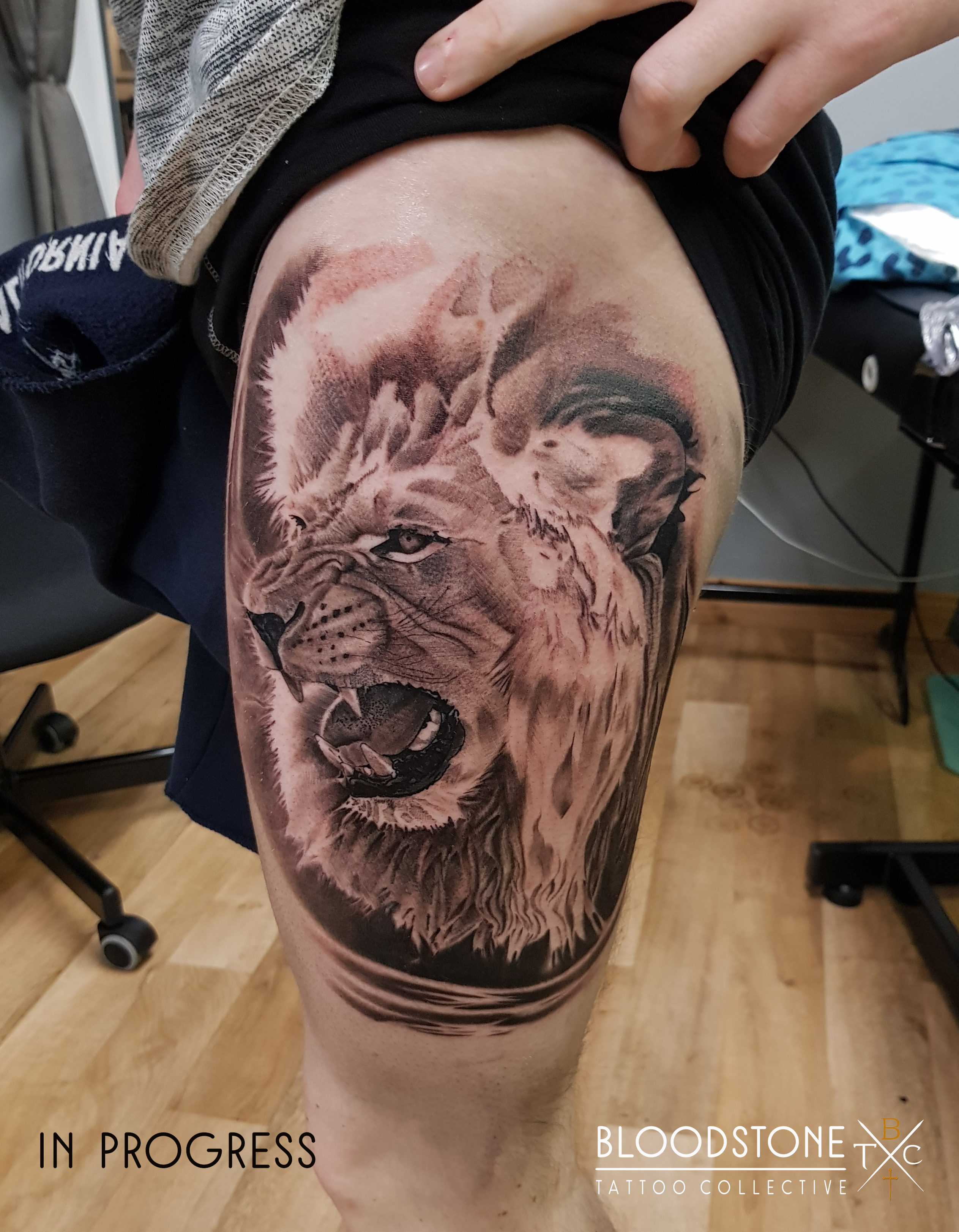 Progress on this large lion piece