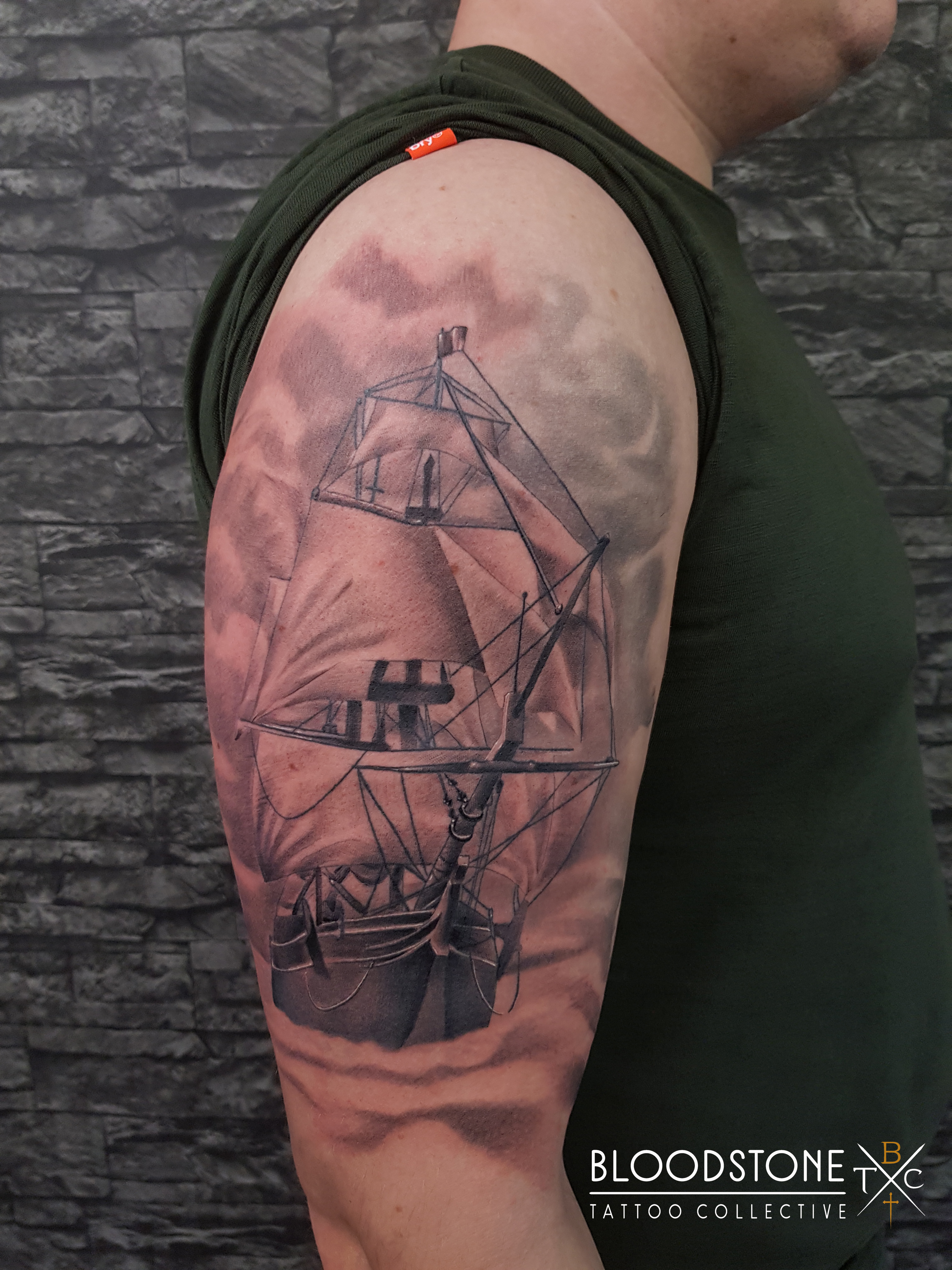 Ship part healed part fresh