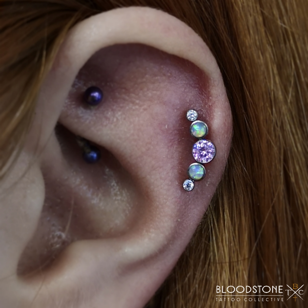 Healed Helix with cluster