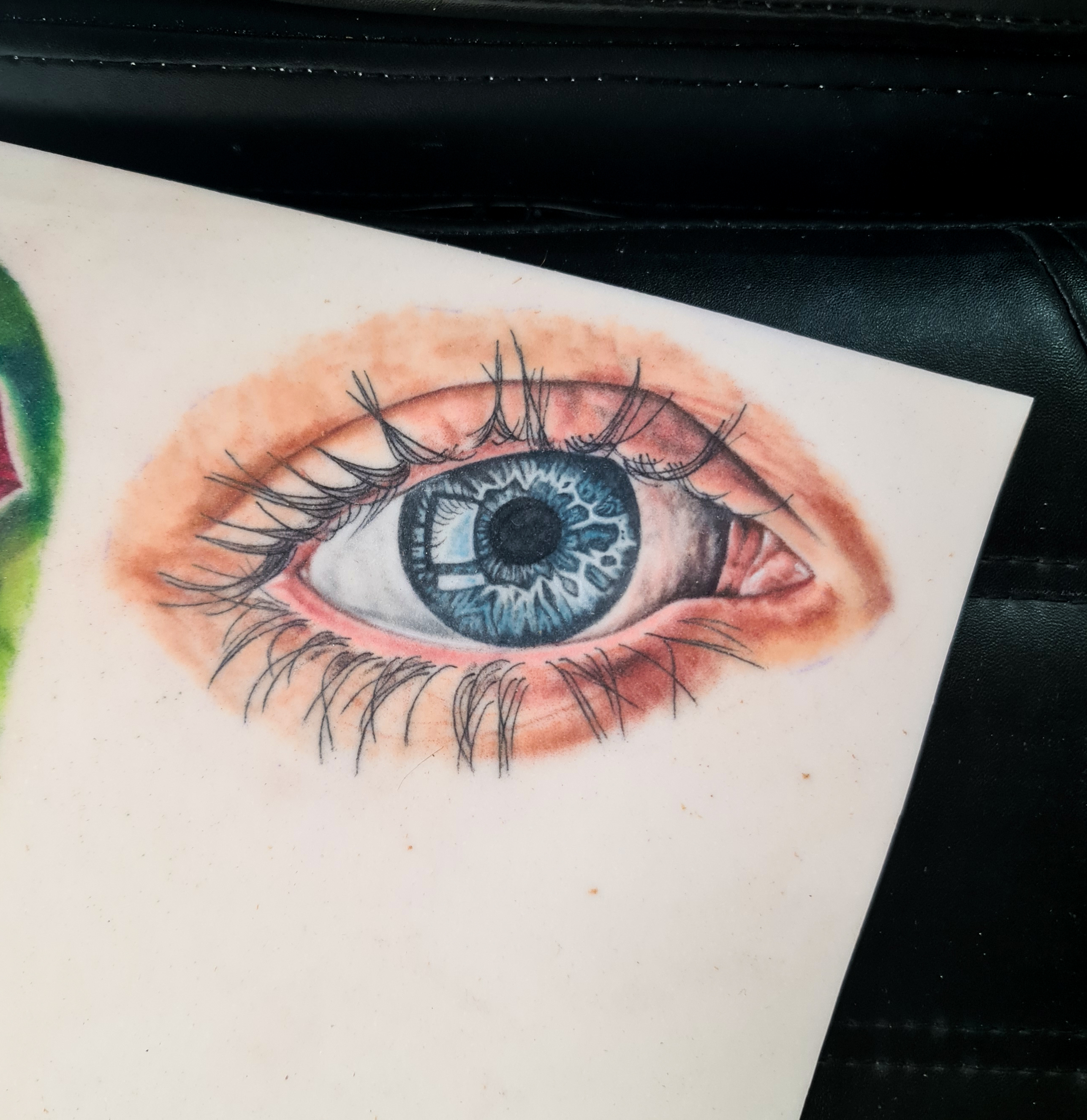 First realistic colour eye