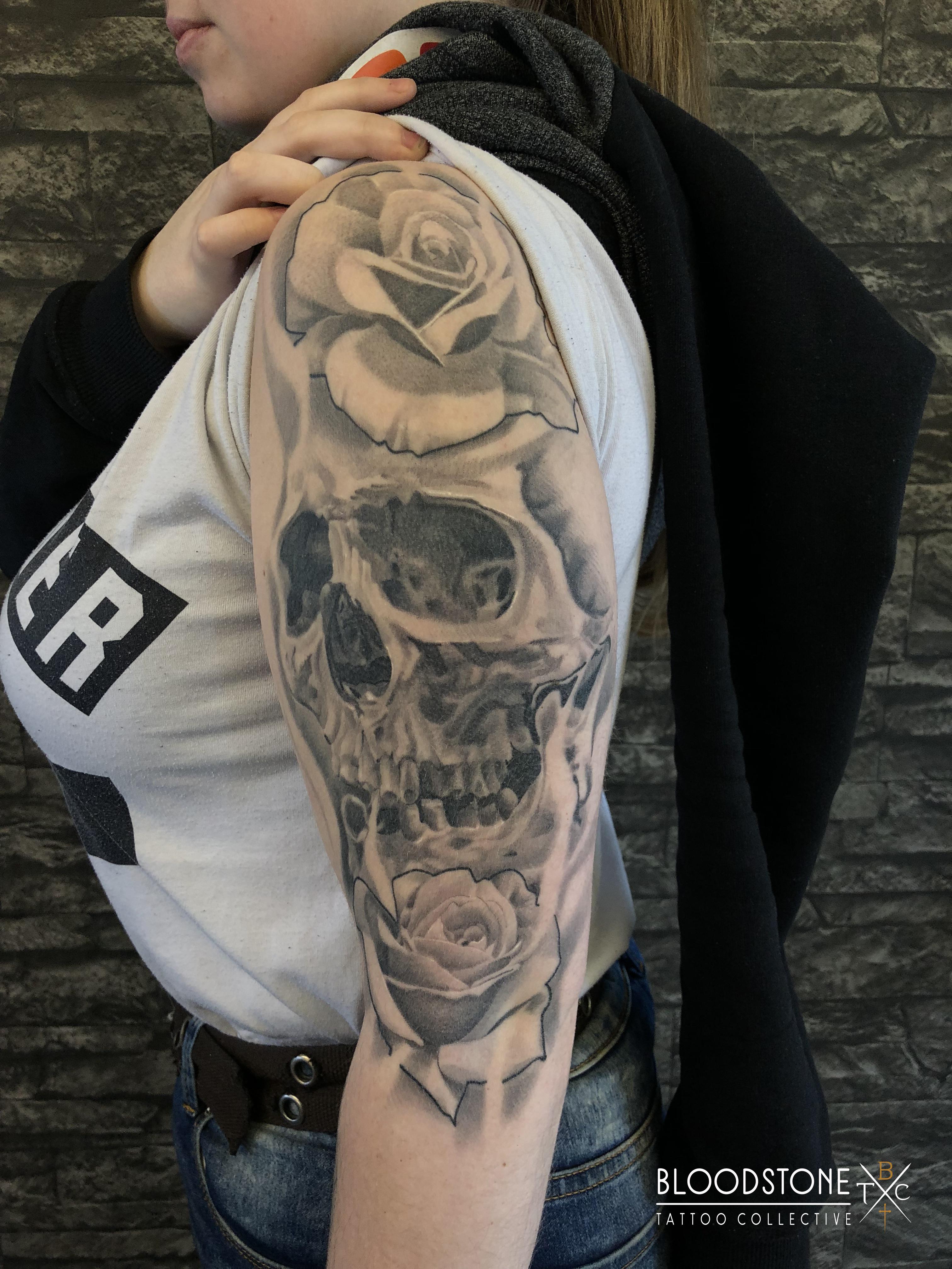 Skull and roses Healed