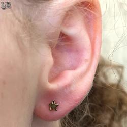 Fresh Lobe piercing