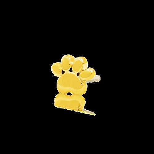 Gold Dog Paw - Yellow Gold