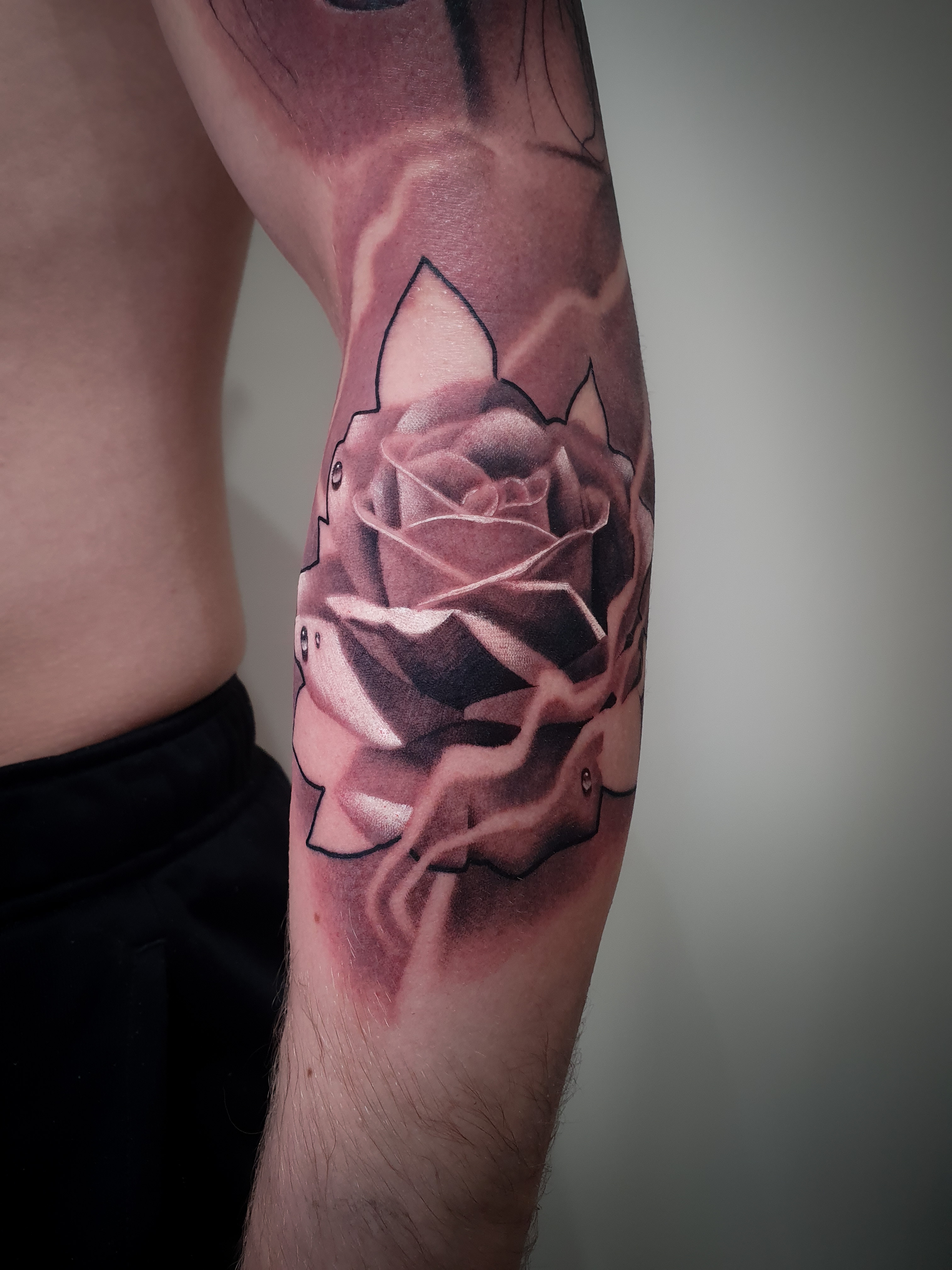 Rose piece part of a sleeve