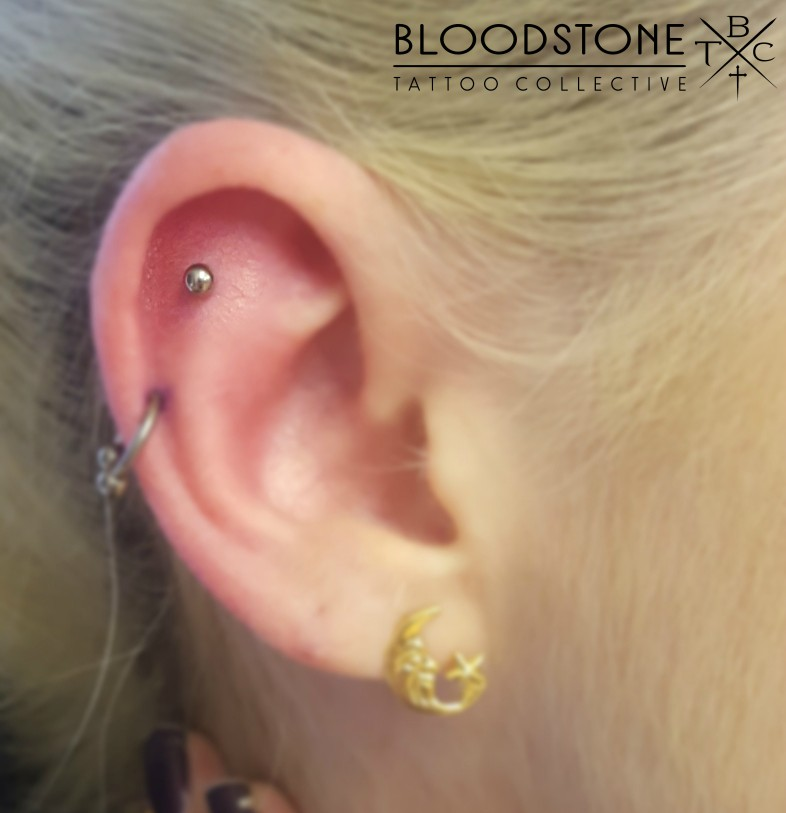 Flat piercing