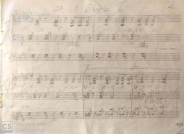 Second composed piece, for three hands a
