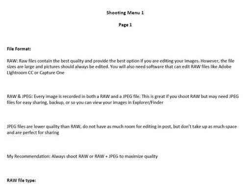 Sony A7III Menu Setup and Tutorial