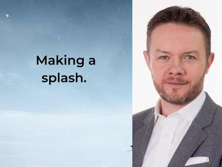 Making a splash.