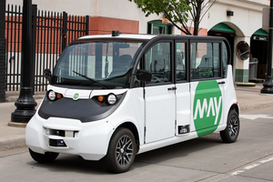 Small, autonomous shuttles seek to disrupt downtown transit
