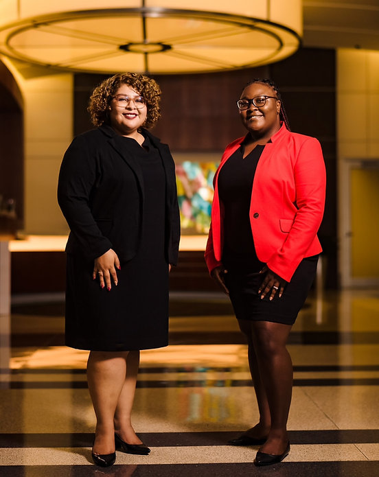 A picture of Alexia Dominguez and Ayeshinaye Smith, founders of the firm.