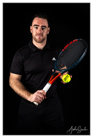 Tennis Player in Studio
