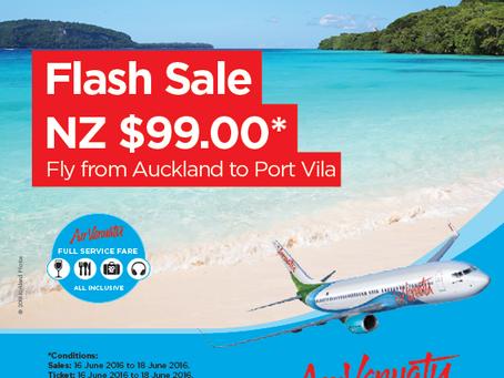 3 Day NZ$99 Fare Deal