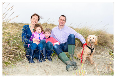 Family on the Beach in Feb